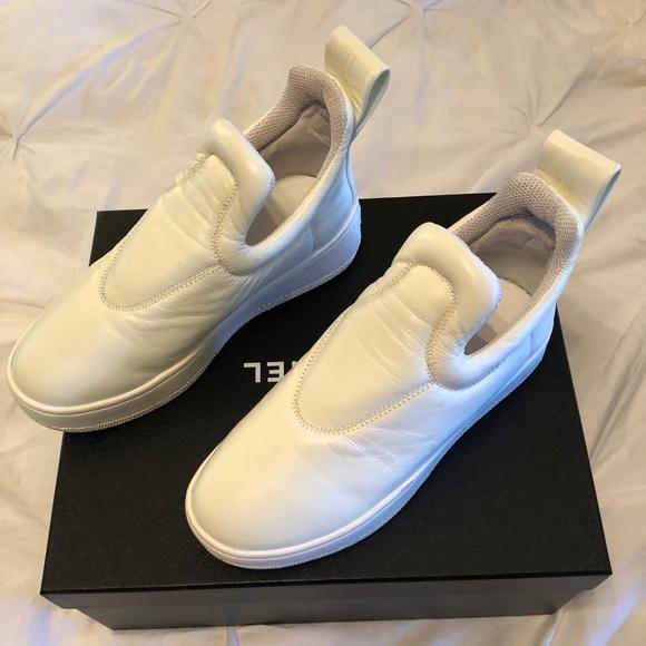 5e32c5fc13df Celine Shoes - Celine leather platform slip-on sneakers